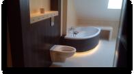 Łazienka z podświetleniami